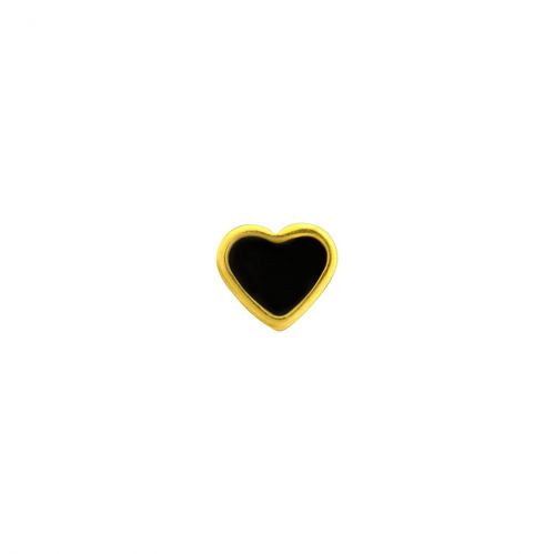 Caflon Heart 6mm Black
