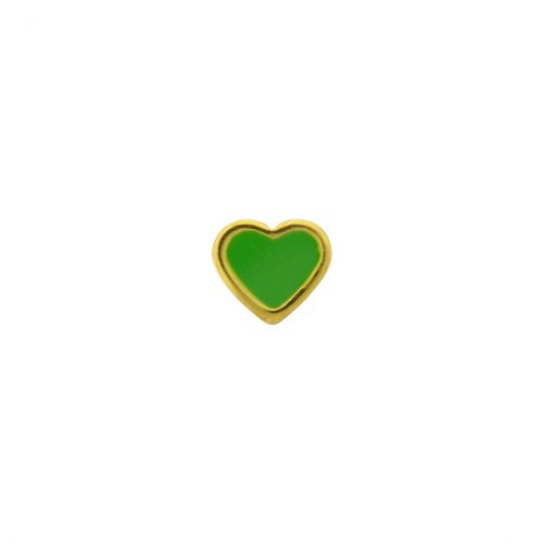 Caflon Heart 6mm Green