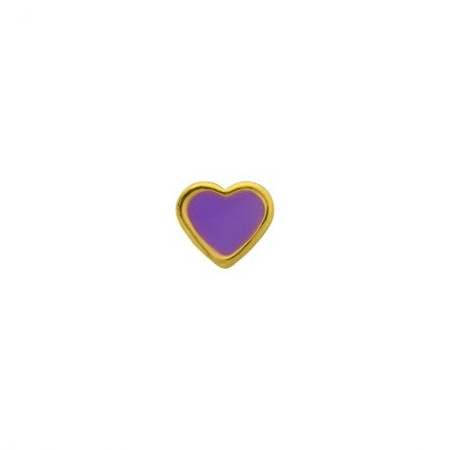 Caflon Heart 6mm Purple