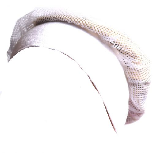 White Headband with Net Crown