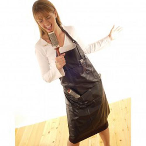 Hairtools PVC Tint Apron with Pockets - BLACK