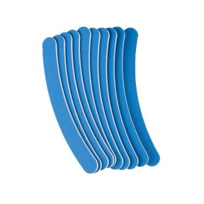 The Edge Blue Curved 120/220 Grit File - pack 10