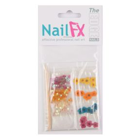 The Edge Nail Art Decoration Set A (Flower/Dust/Flatstones)