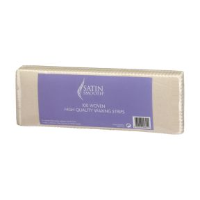 Satin Smooth Fabric Wax Strips - 100