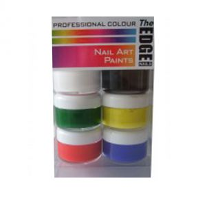 The Edge Nail Art Paint Box - 6 Pack