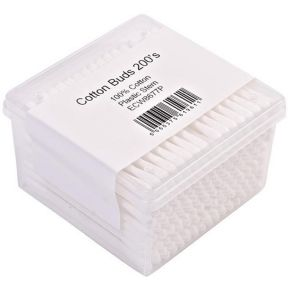Plastic Stem Cotton Buds Box x 200