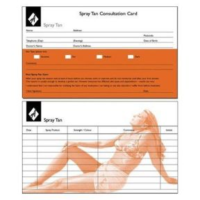 Agenda Spray Tan Record Cards x 100